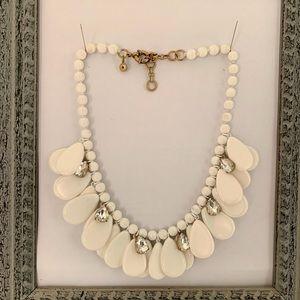 J. Crew White bead statement necklace